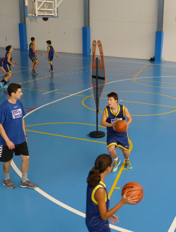 International basketball camp in Spain