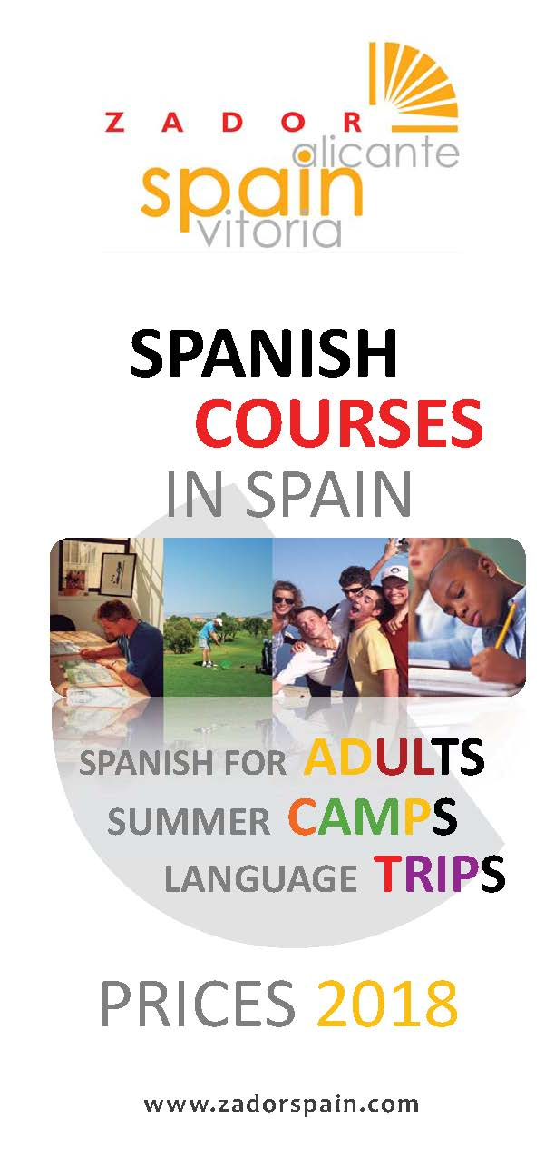 Spanish courses ZadorSpain Prices 2015