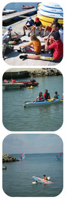 Water sports camp for kids in Spain