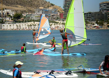 Windsurfing camp in Alicante Spain