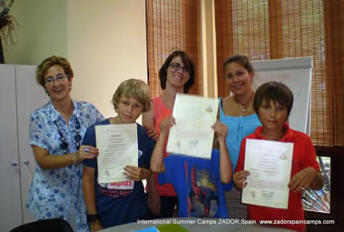 Spanish course for children in Spain